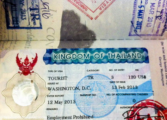 Requirements For Thai Tourist Visas Tieland To Thailand